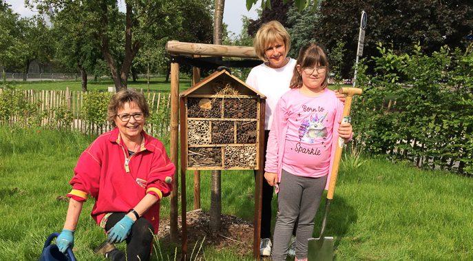 Neues Insektenhotel im Bruno Garten